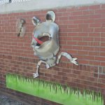 Public art is popping up everywhere in the Arts District. #DowntownNorfolk http://t.co/20y8v5HQGt