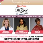 RT @BuzzFeed: #BuzzFeedBrews presents: The Leading Ladies of ABCs Thursday Night Lineup interviewed by @KateAurthur live on 9/10 http://t.co/xMEvK23F38