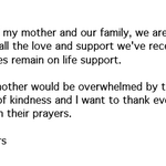 """RT @ABC: UPDATE: Daughter: Joan Rivers """"does remain on life support"""" - @egerts - http://t.co/xK0V4rn0fR http://t.co/uXu28hGX0k"""