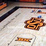RT @Doafhat: Almost finished! Todays Eddie Sutton Court painting update. #okstate http://t.co/97J8h2qkp1