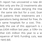 """RT @jafurn50: """"21 NHS Treatments that are no longer free for NHS Patients in 100+ parts of England"""" (part 2) http://t.co/wOeXZsQeCO http://t.co/u8UvCGUNz1"""