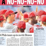 RT @InqPotosky: Check out Inquirers @Phillies no-hitter coverage today @InkySportsPage Design by @BReedBucks http://t.co/RUVrbgWMfR