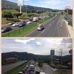 La ruta 27 a la altura de Forum. De Atenas a Forum 1.5 horas. #traficocr #bloqueocr http://t.co/gGzcHb21Tt