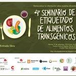 RT @SlowFoodCanario: Agenden que falta poco: 12 de setiembre, Seminario sobre etiquetado de alimentos transgenicos. Los esperamos! http://t.co/RfGN1tN5TY