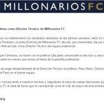 Juan Manuel Lillo no continúa como Director Técnico de Millonarios FC - Comunicado Oficial de @MillosFCoficial http://t.co/CcA4NuUpvu