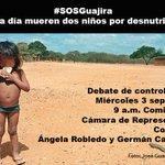 RT @angelamrobledo: Debate de control político #SOSGuajira mañana en el Congreso. Más información: http://t.co/VUCZK2y8aM Cc @PirryTv http://t.co/kRq9Azue9A
