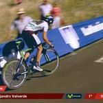 RT @Movistar_Team: #LaVuelta: Pasa @alejanvalverde por el km 11'2: ¡¡mejor tiempo, 19'37!! http://t.co/F3wQyeY4ig