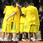 RT @BasketballAus: HANDS IN! Lets get excited @AussieBoomers fans with action v Lithuania 15 mins away - watch LIVE on @ABC2 #GoBoomers http://t.co/QKTtCKhW3n