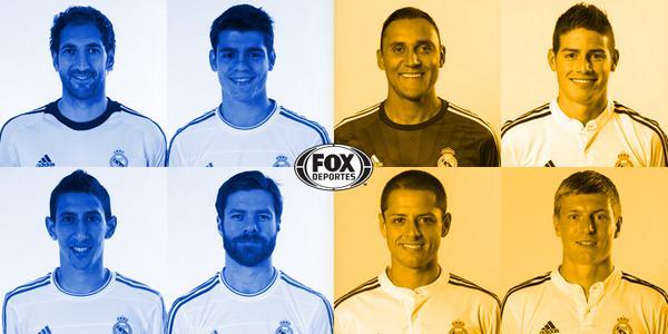 RT si prefieres a López, Morata, Di María y Alonso.  FAV si prefieres a Navas, James, Chicharito y Kroos. http://t.co/5BkKoZ4rNx