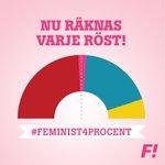 RT @VeronicaSvard: FI SÄKRAR EN RÖDGRÖNROSA MAJORITET Vill du ha @Feministerna eller SD som vågmästare i riksdagen? #feminist4procent http://t.co/dxDFhobBtP