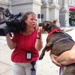 DeeDee kissing up 2 the media! at the @PhilaOEM #NatlPrep Month Kick-off! @FOX29philly http://t.co/yv6JUDPQ9M