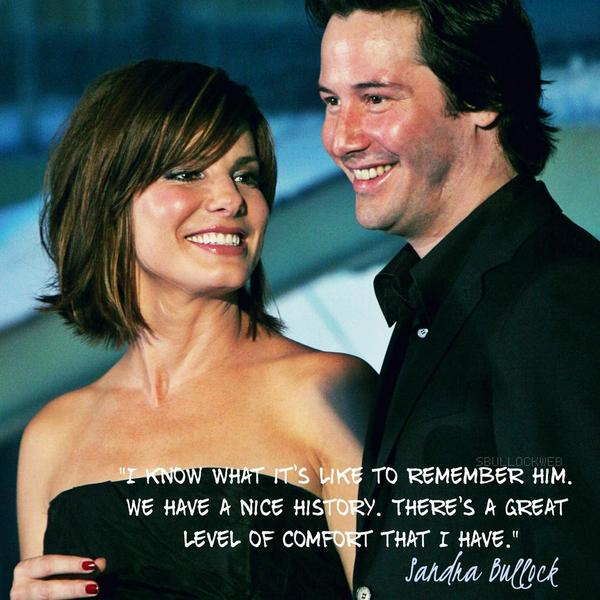 """""""I know what it's like to remember him."""" - Sandra Bullock on Keanu Reeves and acting challenges in """"The Lake House"""": http://t.co/gKZL3RM7gL"""