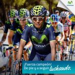 RT @MovistarCo: ¡Vamos @NairoQuinCo Colombia entera está contigo! @lavuelta #FuerzaEscarabajos http://t.co/AI6YeEt7hW