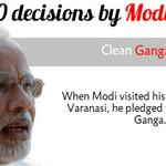 RT @htTweets: #Modi100   Top 10 decisions by @narendramodi government: Clean Ganga mission http://t.co/3zIElHYNi8 http://t.co/38IrAXwlrG