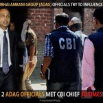 RT @Amitjanhit: Top officials of Anil Ambani hve met CBI director Ranjit Sinha at least 50 tims in 15 moths at his oficial residnce. http://t.co/t7cxV7pTIK