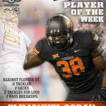 RT @CoachGundy: Congrats to @Eman_OSU38 for being named the @Big12Conference Defensive Player of the Week. #okstate http://t.co/63iAknu2SH