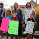 MT @BradyStrachan: Students & parents rally outside @christyclarkbcs office as part of #MLAPlaydate protests http://t.co/mbuJ5Hb3lo #bced