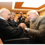 RT @AmreshwarS: That was a emotional moment when #NaMo met the oldest living associate of Netajis Subhash Chandra Bose ! Loved it ! http://t.co/m8KuJIn4jL