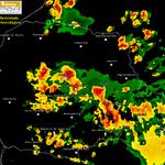 Distribuição das tempestades no Paraná vista pelo radar meteorológico. http://t.co/2SVzTexMV9