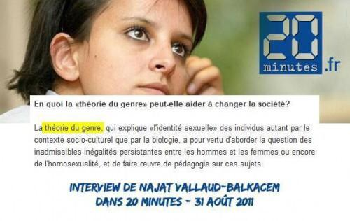 Najat #VallaudBelkacem a la mémoire courte qd elle prétend que la théorie du #genre n'est qu'une rumeur http://t.co/eciDy7xdM2