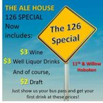 #Hoboken Weve expanded our 126 Special. Now your bus pass gets $3 Wine and Well Drinks for 1st drink. 11th & Willow http://t.co/uAP0TlBzmc