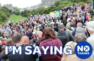 Great meeting in Edinburgh today. We are voting 'No Thanks'! Retweet if you're with us #indyref http://t.co/BQ3Yzxj2Qq