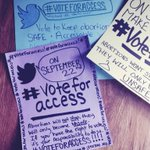 RT @dreampunx: Making some posters to help promote the amazing #voteforaccess campaign! We all have a reason to #VOTEFORACCESS http://t.co/yn2fpS8D7h