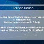 RT @globovision: #ServicioPúblico Requieren el medicamento Metotrexato en tabletas de 2,5 mg http://t.co/lsxld5oMOd