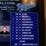 RT @Royals: Looking to stay atop the AL Central, heres how the #Royals line up tonight against the Rangers at 7:10 CT: http://t.co/E1lbd713oD