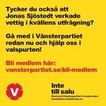 RT @vsthlm: Tycker du också att @jsjostedt var bra i dagens utfrågning? Bli medlem redan idag! http://t.co/7HZsyFvMQg #dinröst http://t.co/vs2JOnOBDN