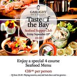 "RT @MeyrickHotel: New event alert!- "" Taste of the Bay "" our seafood supper club on Friday 19 th in the Gaslight! #galwayhour http://t.co/phmVclgpLB"