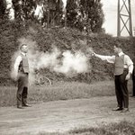Testing a bulletproof vest, 1923 http://t.co/9xUplcFJRs