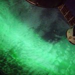 This is what we see looking down while being inside an #aurora. http://t.co/jn3mbZZIxm