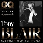 RT @stuheritage: Um RT @BritishGQ: Philanthropist Of The Year goes to Tony Blair: http://t.co/CayHe5lGC6 #GQAwards http://t.co/bC2Pd0qGIX