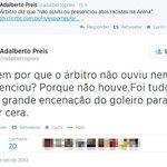 """""""@folha_com: Vice do Grêmio diz que Aranha encenou ofensas para ganhar tempo. http://t.co/AbuXfrmyYC http://t.co/sEGs9jH7Up"""" Ta certo!"""