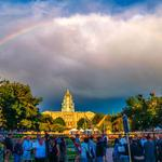 """@AltaHSApts: A beautiful photo from @ATasteofCO ]@iknowdenver @DowntownDenver. It was a blast! #Colorado #rainbow http://t.co/1NBZykixVq"""