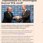 RT @JaapStalenburg: Het WK voetbal 2018 in Rusland zou zo maar geboycot kunnen worden. EU komt met vergaande sportboycot. http://t.co/JUNiyYR1hP