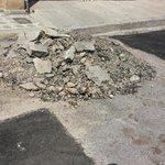 Gracias por tapar los pozos ..pero el escombro? tiene ya asi 5 dias calle jimenez pleno centro @IsidroLopezV http://t.co/J87ywe7CUC