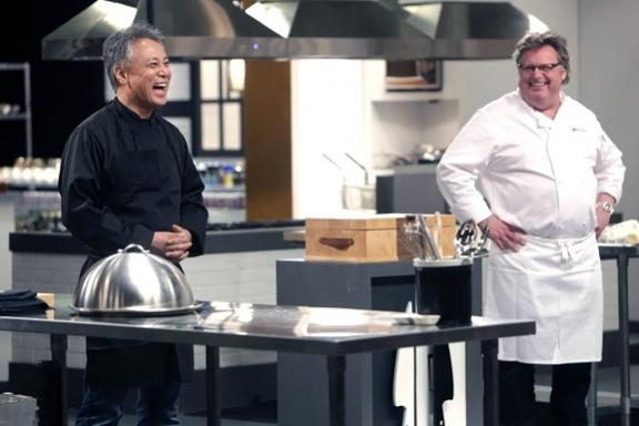 Facing off a my worthy opponent @ChefTakashi in #TopChefDuels TMRW night on @BravoTV - 9pm! http://t.co/c7EpAMiBfc http://t.co/S7yrJtJQFH