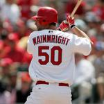 RT @birdsonthebat13: WINNER WINNER CHICKEN DINNER! #STLCards win behind a 3 RBI night from Wainwright at the plate! http://t.co/AWea9imjQE