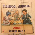 RT @shailichopra: Awesome - by #amul on @narendramodi trip to #Japan http://t.co/bc85d5A6AD
