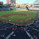 RT @DOBrienAJC: 10 minutes to first pitch, this is the turnout at Turner Field http://t.co/9c1oqql3Je