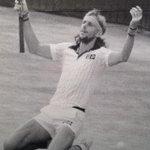 RT @robertasmithnyt: Old but wonderful image of Björn Borg winning. Like Bellinis St Francis receiving stigmata @ Frick #USOpen http://t.co/D6unxFM9dU