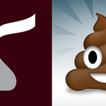 The new #Hershey logo is flat and just a couple of googly eyes away from being the poo emoji. #BrandingFail http://t.co/mVXGFtysqF