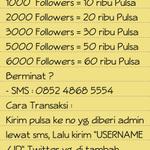 RT @Follower_San: HOT PROMO Jasa Follower Sampai jam 9 malam Bayar Pake Pulsa Bukti cek Favorite SMS: 0852 4868 5554 HARGA CEK FOTO GAN http://t.co/4rYuWUEnbn