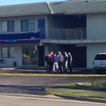 RT @brendalissg: Robbery at Motel 6. Police wont say whether its connected to triple homicide suspect on the loose. http://t.co/G1quHkSxSD