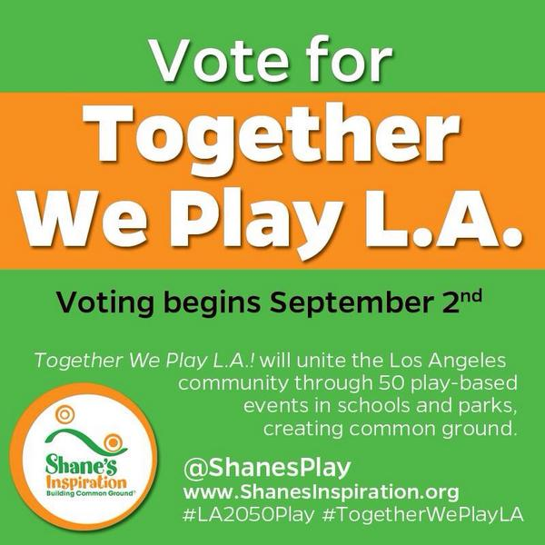 If you Vote and RT I'll follow you! Help Shane's Inspiration win $100k #LA2050play @ShanesPlay http://t.co/GkKwPXCCvf http://t.co/T6T0voRrOX
