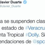 RT @telenewsmex: Se suspenden clases en todo el Estado de #Veracruz por tormenta tropical #Dolly http://t.co/gHbXYoq8z5