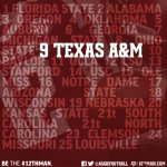 RT @AggieFootball: ICYMI: Texas A&M moved to number 9 in the @AP_Top25 earlier today #12thMan http://t.co/gejj39sFi7