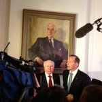 PM Tony Abbott with two former PMs #auspol http://t.co/Tffy7vNHj3